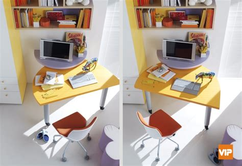 scrivanie doppie per camerette scrivanie girevoli