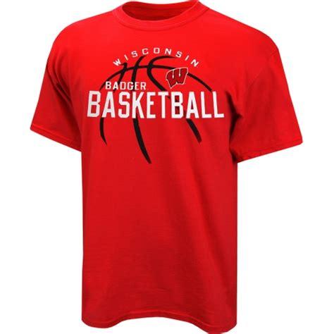 T Shirt Basketball wisconsin badgers basketball fade t shirt