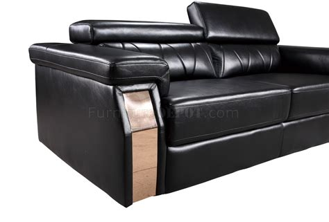 black bonded leather sofa u8012 sofa in black bonded leather by global w options