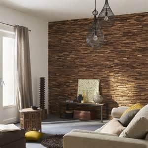 plaquette de parement bois recycl 233 boho mur ideedeco