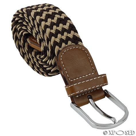 Buckle Elastic Belt mens boys unisex elastic stretch woven pin buckle