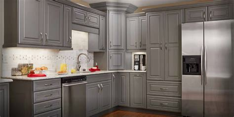 Grey Stained Oak Kitchen Cabinets Winda 7 Furniture