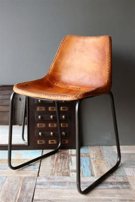 Industrial Leather Dining Chair Industrial Leather Chair Mad About The House