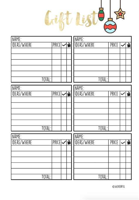 Printable Planner Inserts 00d744477a525b1369f5de9f17430fa0 Christmas Gift List Printable Planner Gift Organizer Template