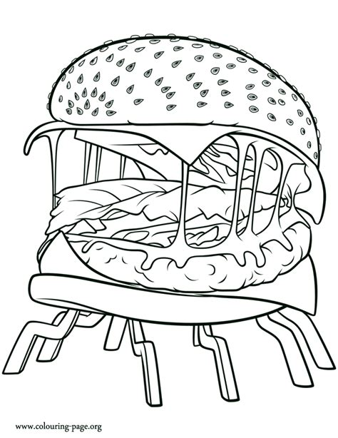 Cloudy With A Chance Of Meatballs Coloring Pages chance of meatballs cheespider coloring page