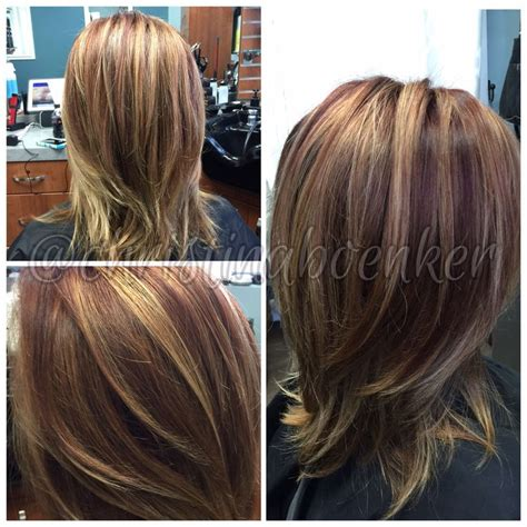 Amazing Multi Colored Highlights The Haircut Web Multicolor Hair With Highlights Multi Dimensional Brown With Golden Highlights