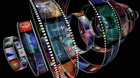 film reel loop hd 4k stock footage 24833673 pond5 animation of rotating film reels with a variety of clips