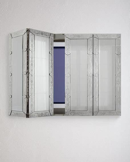 Venetian Style Mirrored Flat Screen TV Wall Cabinet