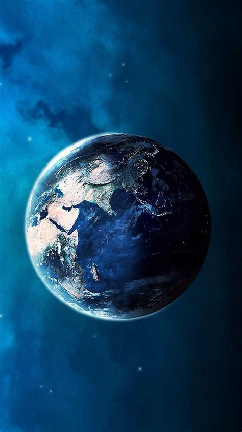 blue planet earth space iphone  wallpaper hd