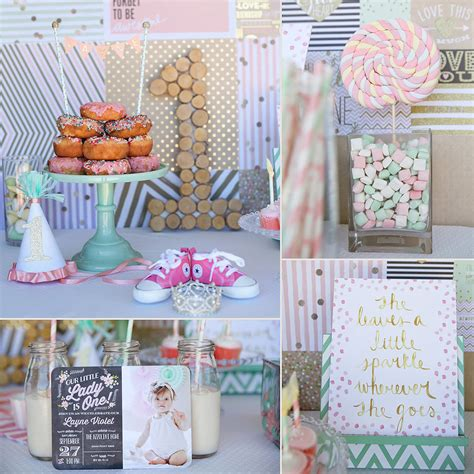 themes for girl 1st birthday party first birthday party ideas for girls popsugar moms