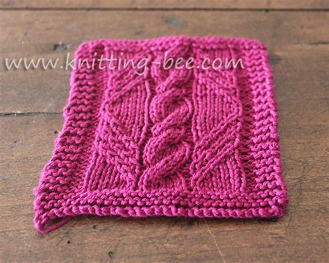 c6b knitting cable in a knitting pattern panel knitting bee