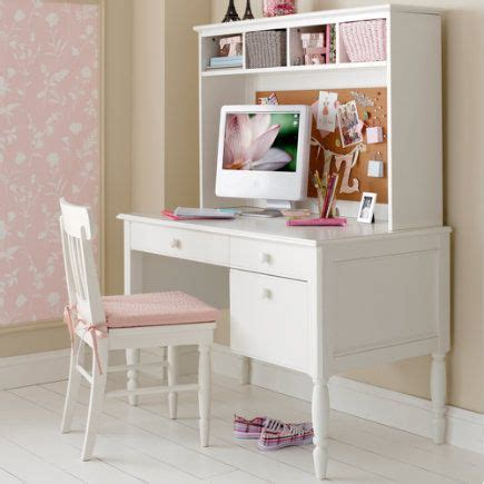 girls desk with hutch like this girls desk with the bulletin board hutch ideas