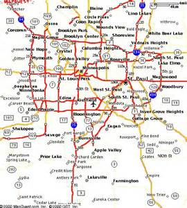 Twin Cities Metro Map by Emerald Ash Borer St Anthony