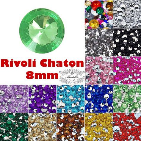 Nail Rhinestone Point Back Mix Color 50 250 pcs 8mm rivoli chaton rhinestone mix color shape pointed back assorted