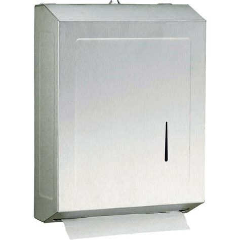 commercial bathroom paper towel dispenser shop psisc satin c fold pull paper towel dispenser at