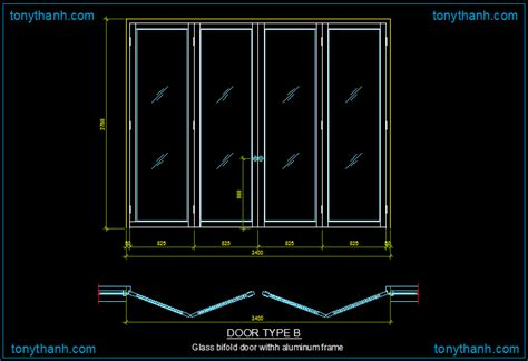 Folding Door Detail Cad