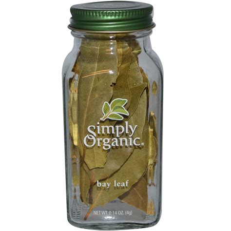 4g supplement review simply organic bay leaf 0 14 oz 4 g iherb