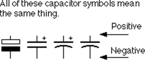 capacitor symbol negative common questions beginners ask and their answers