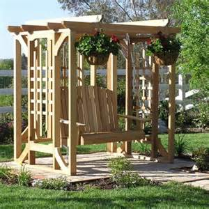 Swing With Pergola by Pergola Swings For Customers Without A Porch
