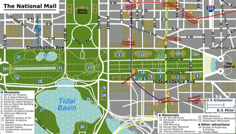 museums in washington dc map washington d c national mall and smithsonian museum of