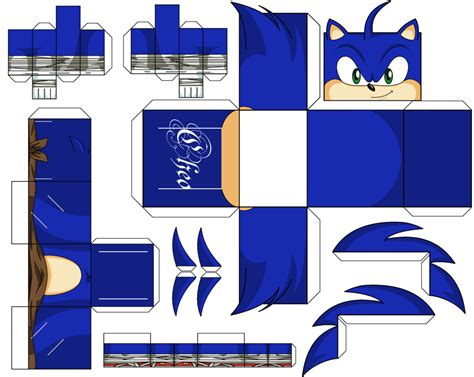 Papercraft Sonic - sonic boom paper crafts