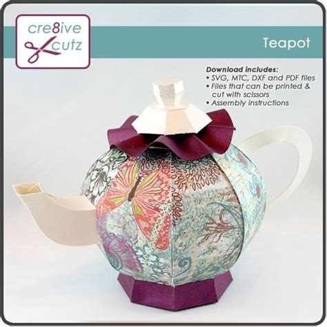 How To Make A Paper Teapot - 17 best images about paper crafts teapot on