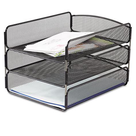 black mesh desk tray desk tray by safco 174 saf3271bl ontimesupplies com