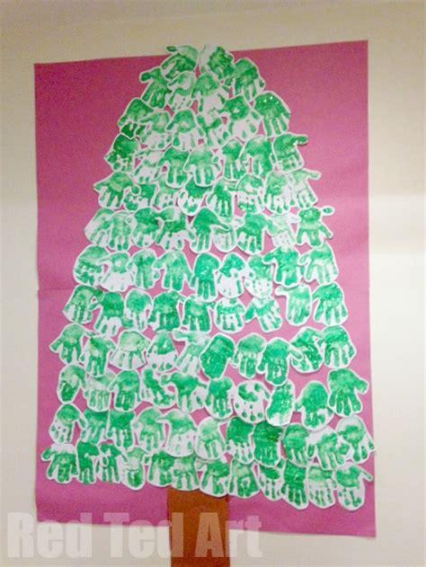 christmas tree crafts for preschool using handprint handprint footprint crafts keepsakes obqvite