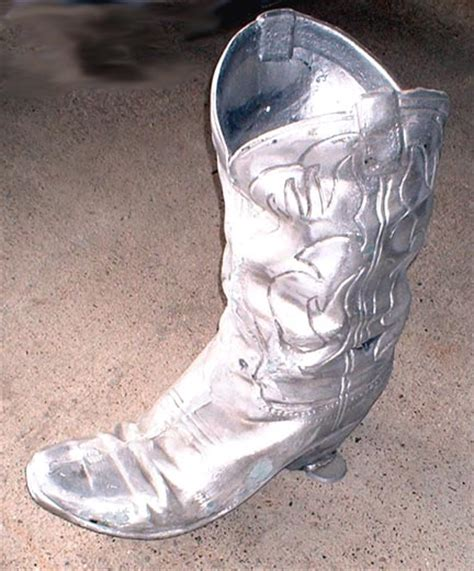 Boot Planter by Cowboy Boot Planter Decoration Western Style Motif Cast Aluminium