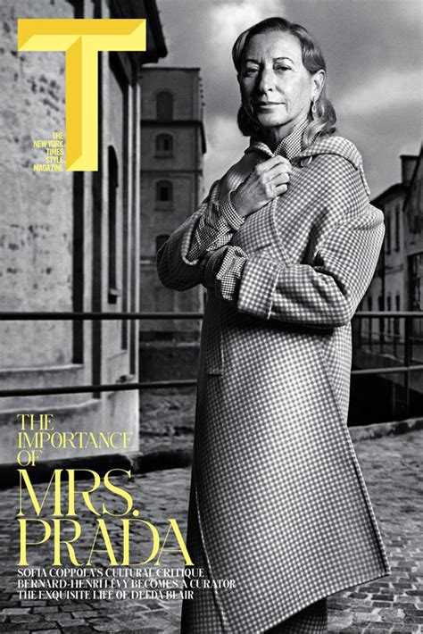 Style In The Ny Times by Miuccia Prada Covers The Ny Times T Style