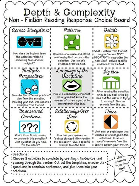 design elements theory 96 best learning menus and choice boards images on