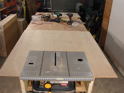 build a saw bench 63 build a table saw extension part 1 by roger clyde webb youtube