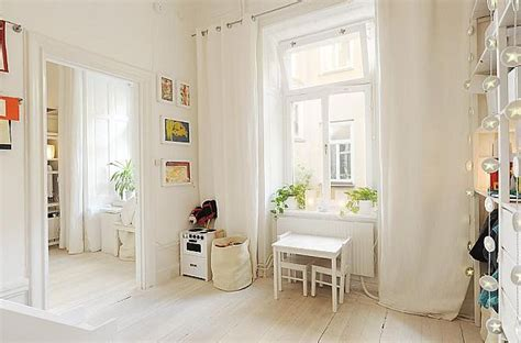 white curtains on white walls modern white apartment in a historic building