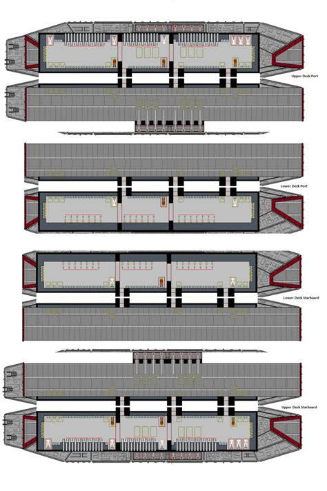 battlestar galactica floor plan mercury class battlestar fanclub