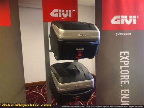 givi launches  square  litre givi  bold topcase