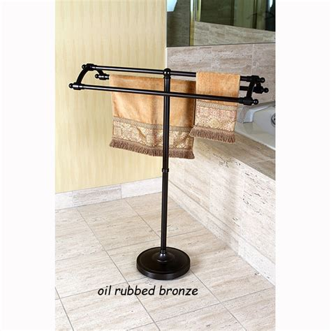 solid steel pedestal towel rack