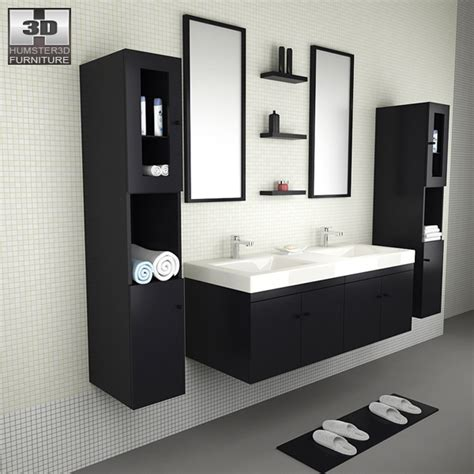 bathroom models bathroom furniture 08 set 3d model humster3d