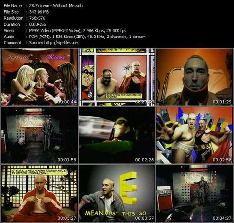 eminem dvd eminem video download 171 without me 187 video vob