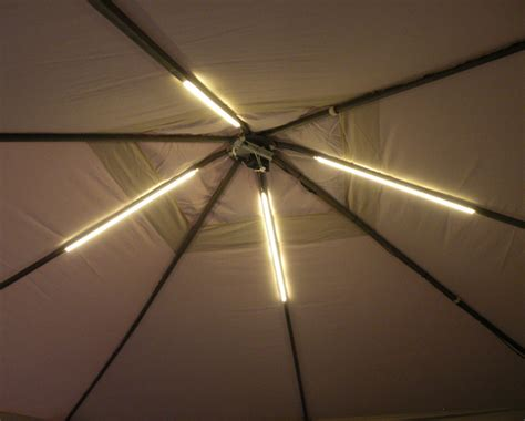 gazebo lighting project using warm white led strips