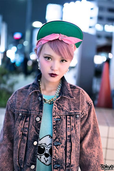 Hoodie Supreme Bristle Script Text Wash Tag pink hair acid wash in harajuku tokyo fashion news