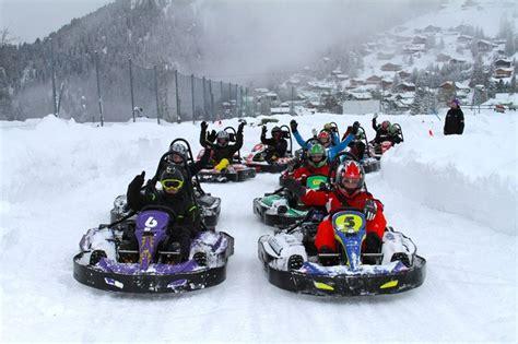 Snow karting run in Bansko ski resort in Bulgaria