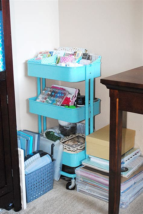 ikea blue rolling cart all about the furniture ikea raskog cart craft storage ideas