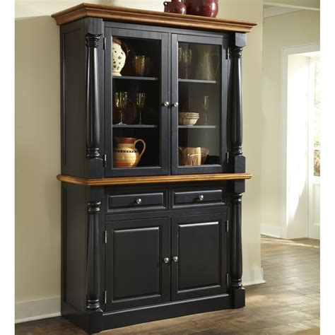 home styles monarch china cabinet black oak china