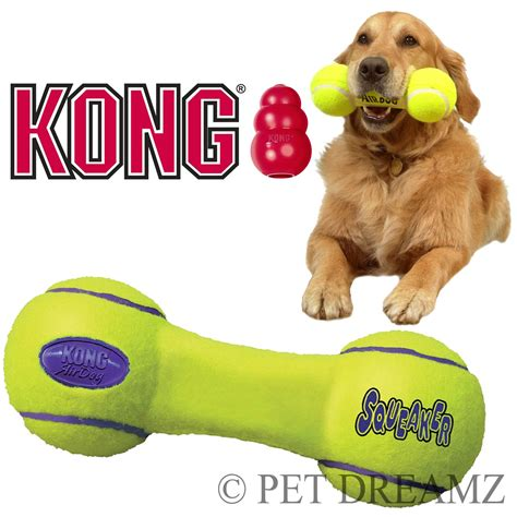 Mainan Anjing S Kong Airdog Dumbbell Medium kong air puppy squeaker fetch retrieval dumbbell 3 sizes ebay