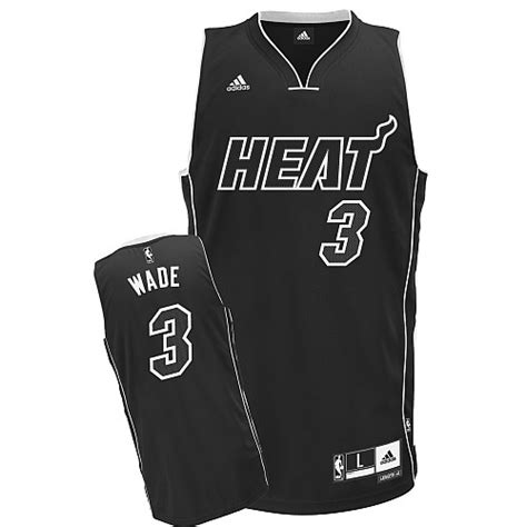 Jersey Miami Heat Hitam Wade lockport nba jerseys canada heat dwyane wade black shadow swingman nba jersey size s m l xl