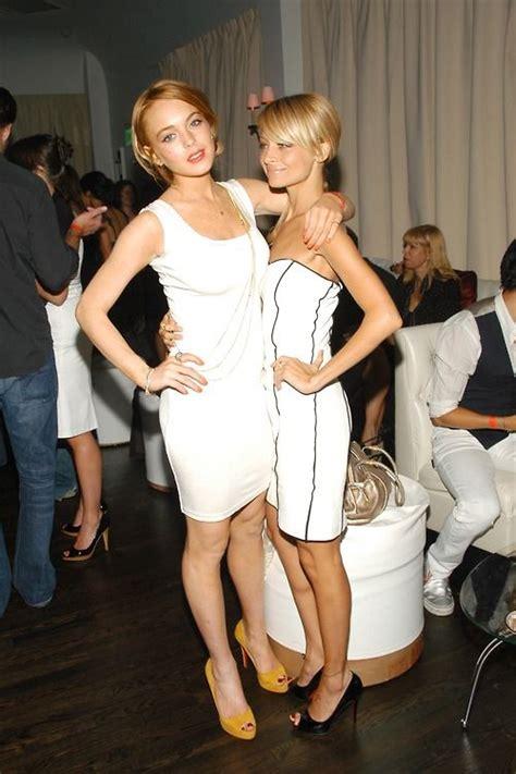 Richie And Lindsay Lohan lindsay lohan and richie white dress so chic
