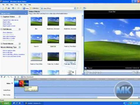 tutorial windows movie maker xp español windows xp movie maker add ease or zoom in out on video