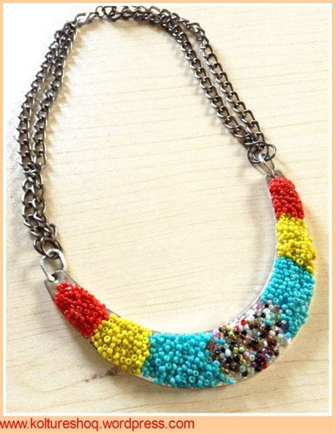 diy seed metal necklace by koltureshoq project