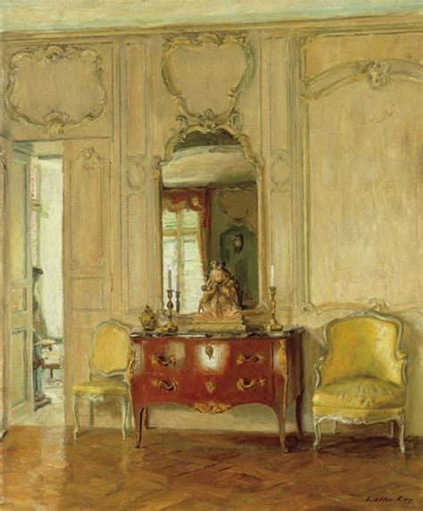 paintings  interiors  walter gay  isabelle rey