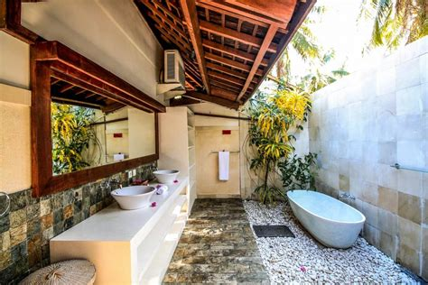 outdoor bathroom rental villa cinta luxury holiday villa rental in gili